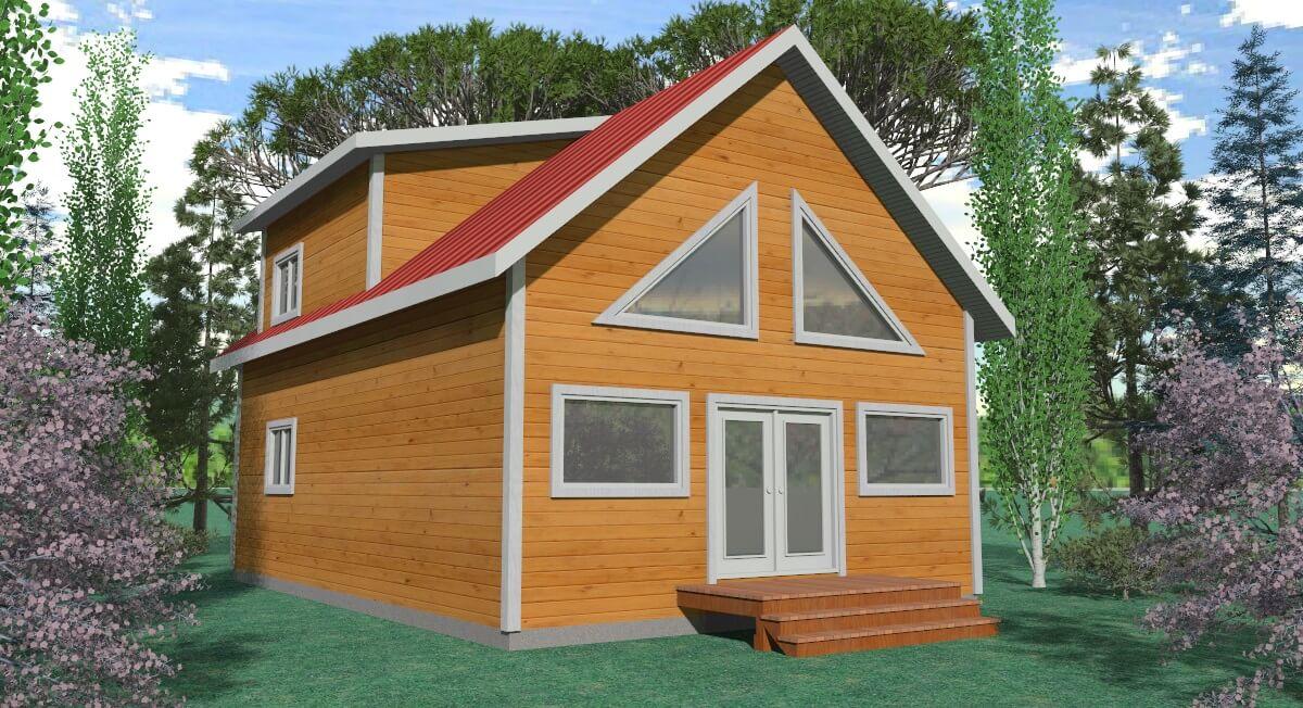 woodland cabin render 2