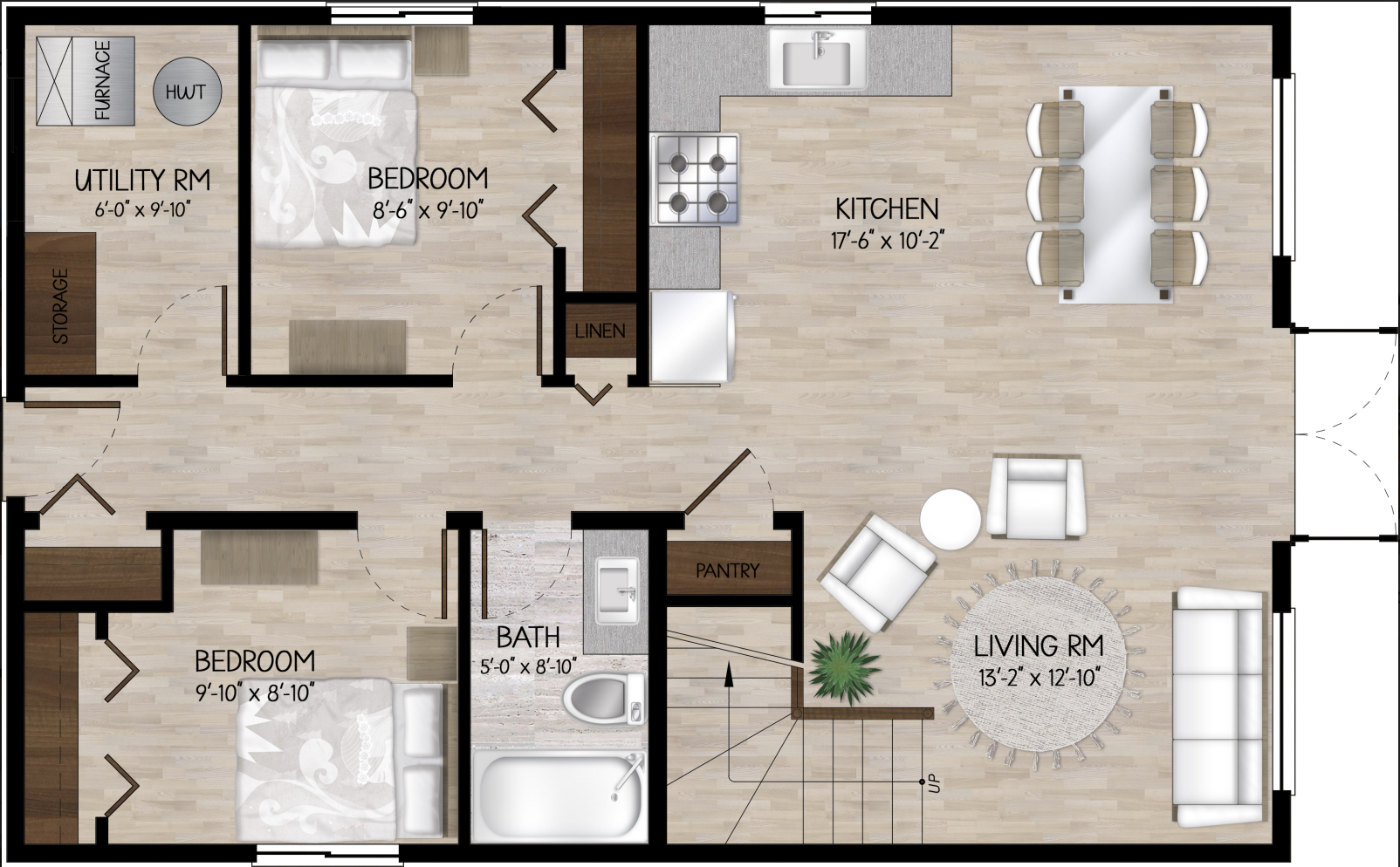 woodland cabin  floor plan main