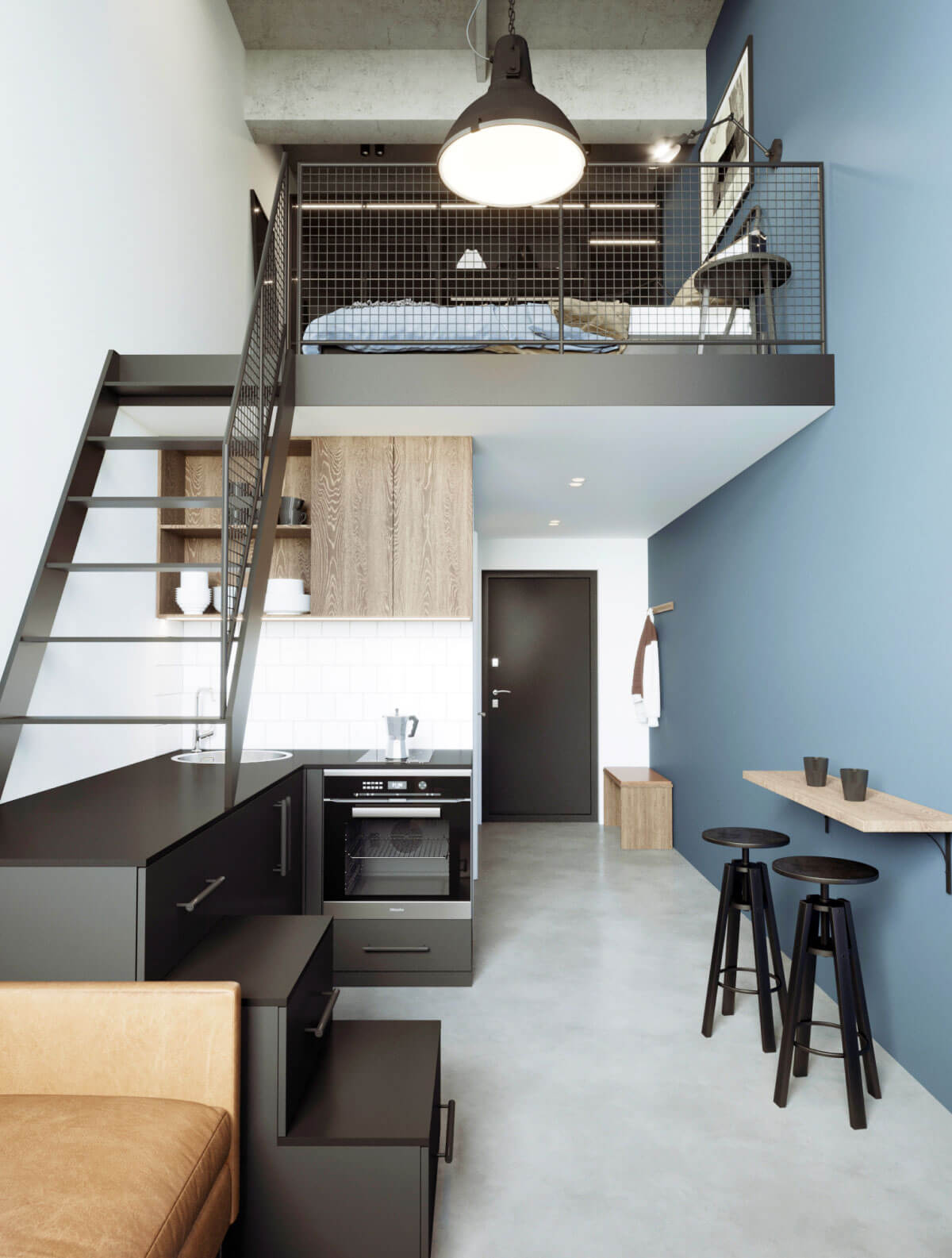 Urban style loft interior kitchen