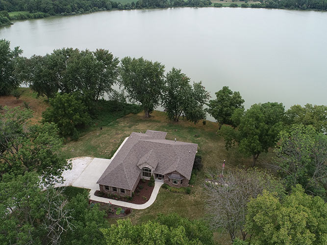 Drone photography of a residential home for real estate needs.