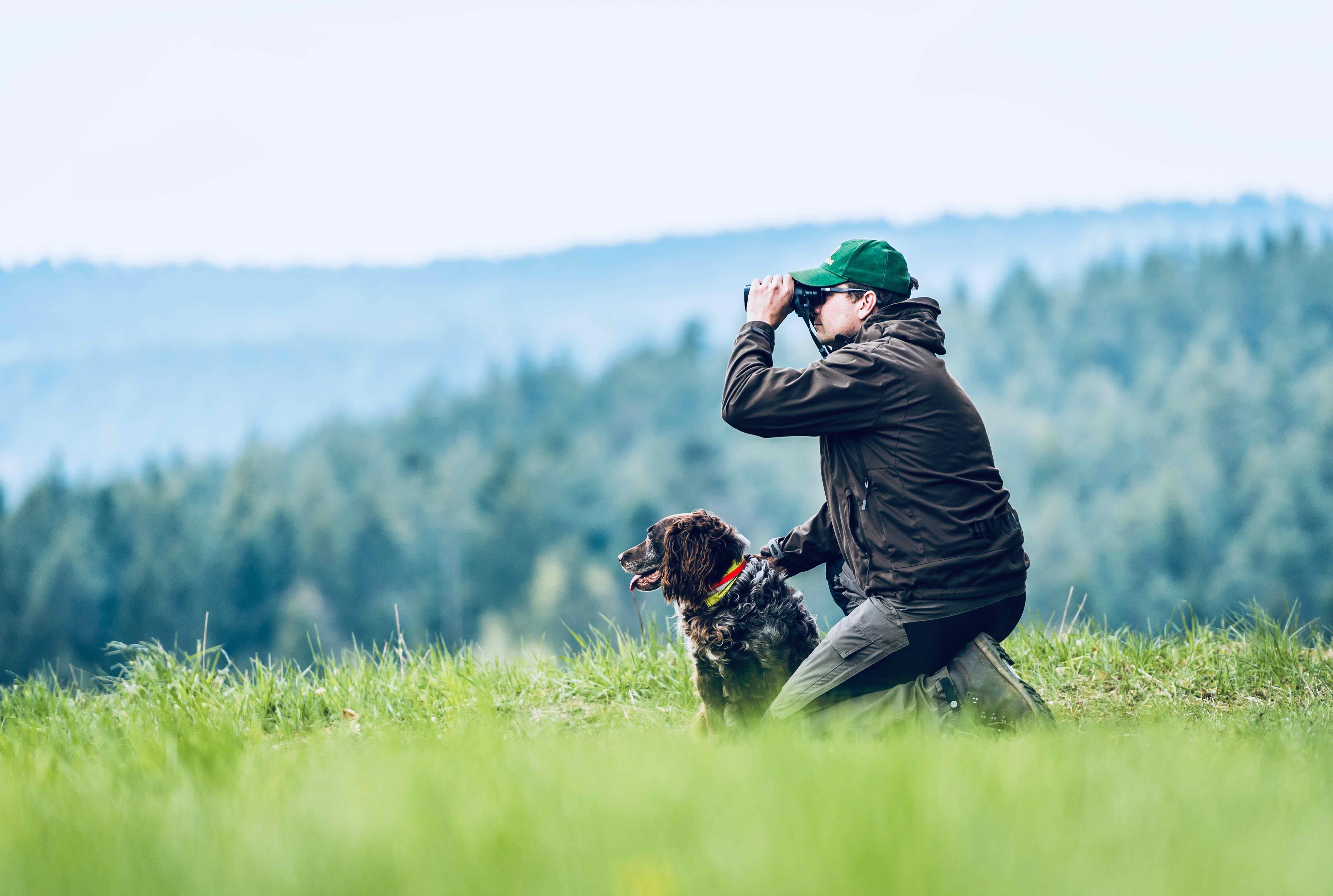 Jäger mit Hund quo vadis Friedenfelser