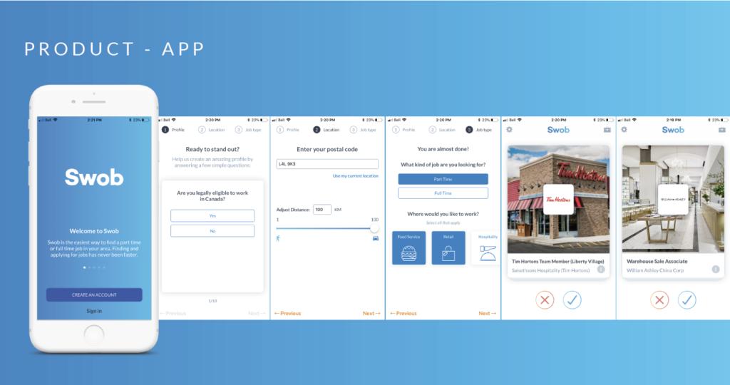 Swob App Screens
