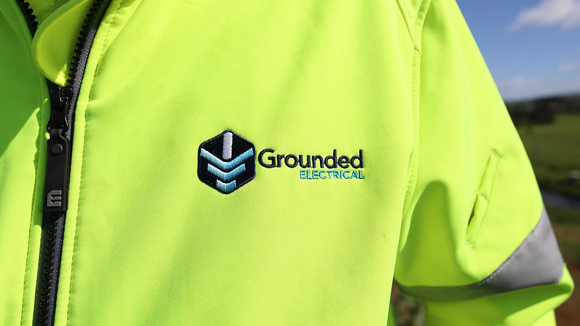 Grounded Electrical logo design