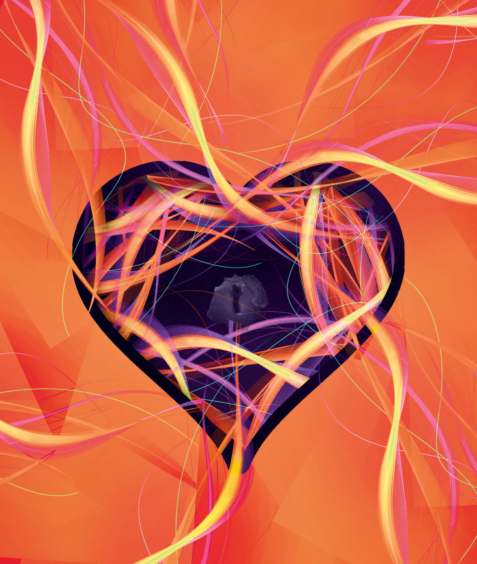 Abstract heart design representing Anima and Animus