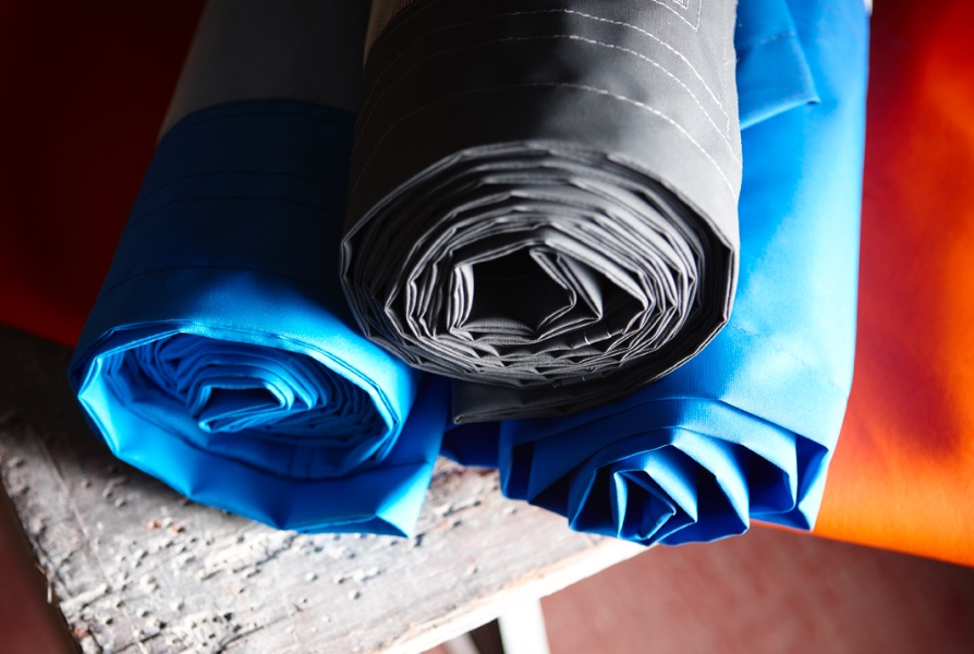 Rolls of canvas fabric for pop top roofs
