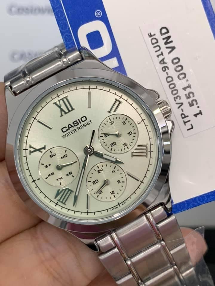 Đồng hồ Casio nữ dây kim loại LTP-V300D-9A1UDF