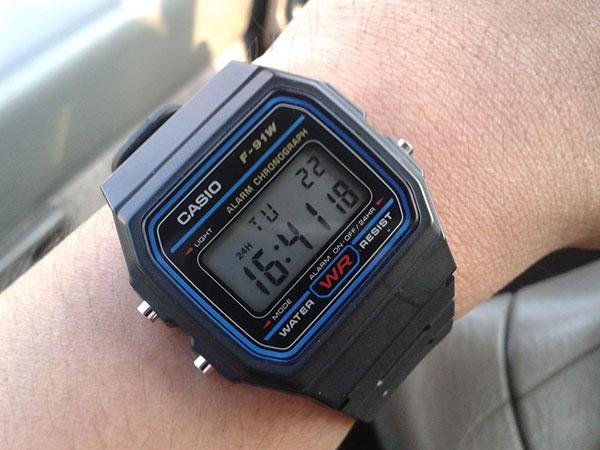 F-91W là chiếc đồng hồ điện tử Casio nổi danh nhất từ trước đến nay