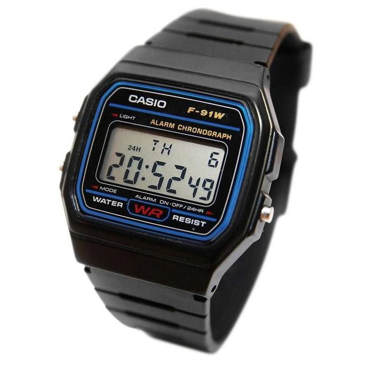 Đồng hồ F-91W của Casio có thiết kế khá đơn giản