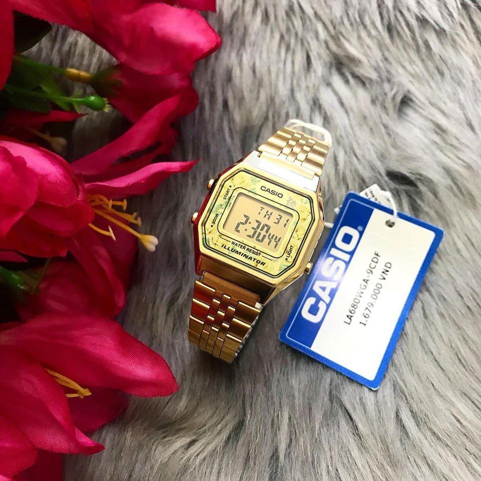 Casio LA680WGA-9CDF chính xác là sự lựa chọn tuyệt vời cho cô nàng thanh lịch