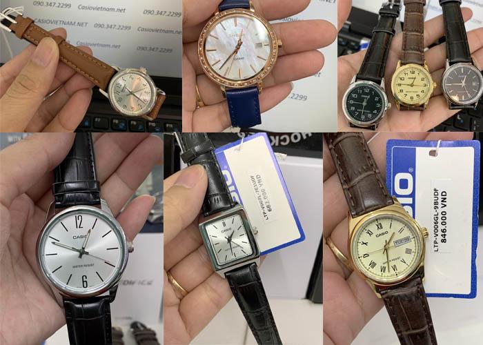 Đồng hồ nữ dây da Casio được phát triển với nhiều phong cách