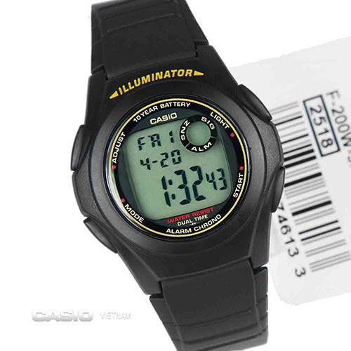 Đồng hồ F-200W-9ASDF - món quà tuyệt vời cho các bạn nam độ tuổi đến trường