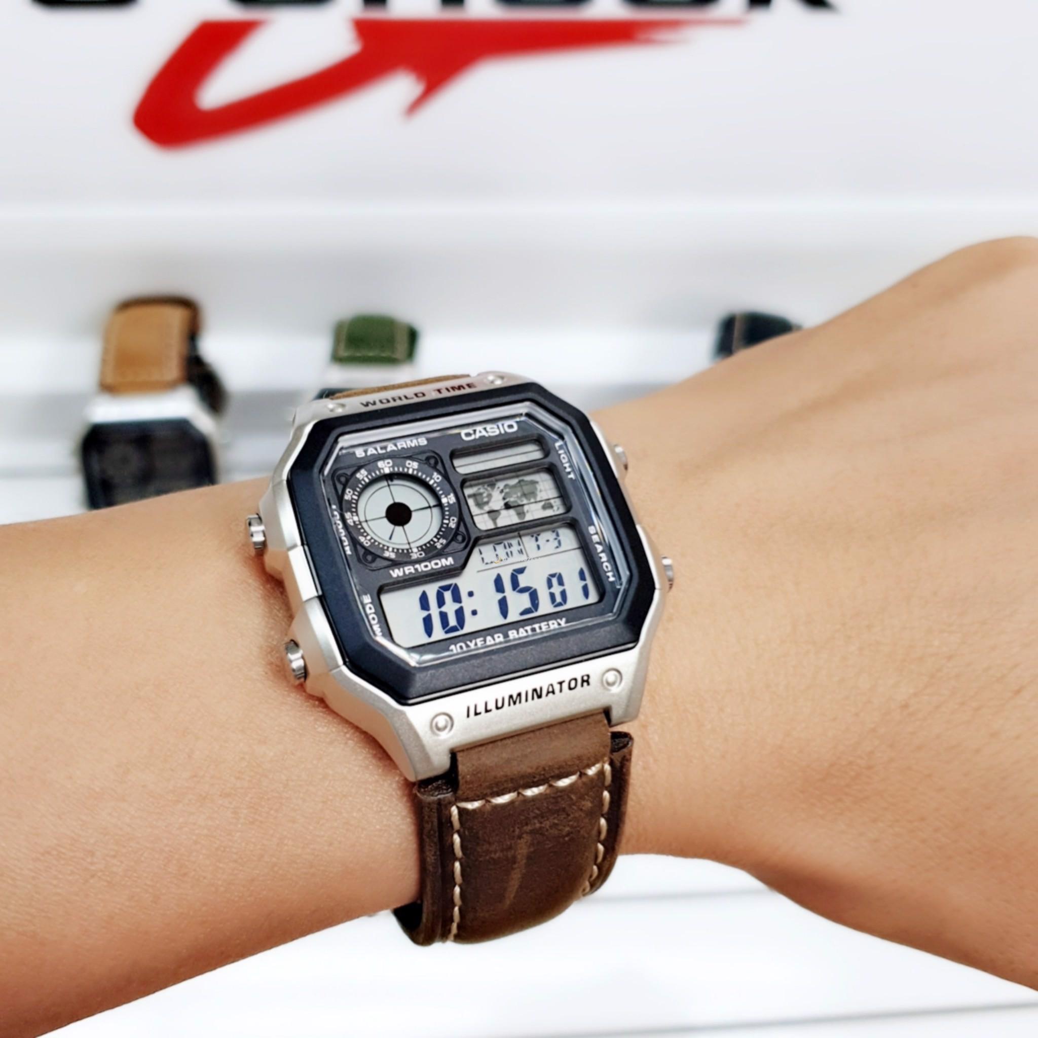 Đồng hồ Casio AE1200WHD là một mẫu đồng hồ cổ điển, bắt mắt với vẻ ngoài độc lạ