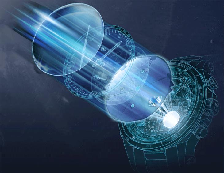 Casio Edifice hoạt động qua cơ chế hấp thụ ánh sáng