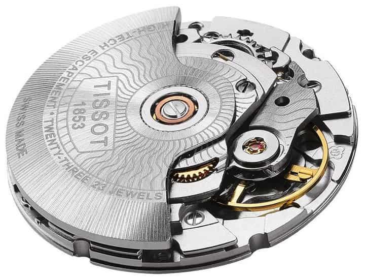 Cấu tạo nổi bật của bộ máy của đồng hồ Tissot