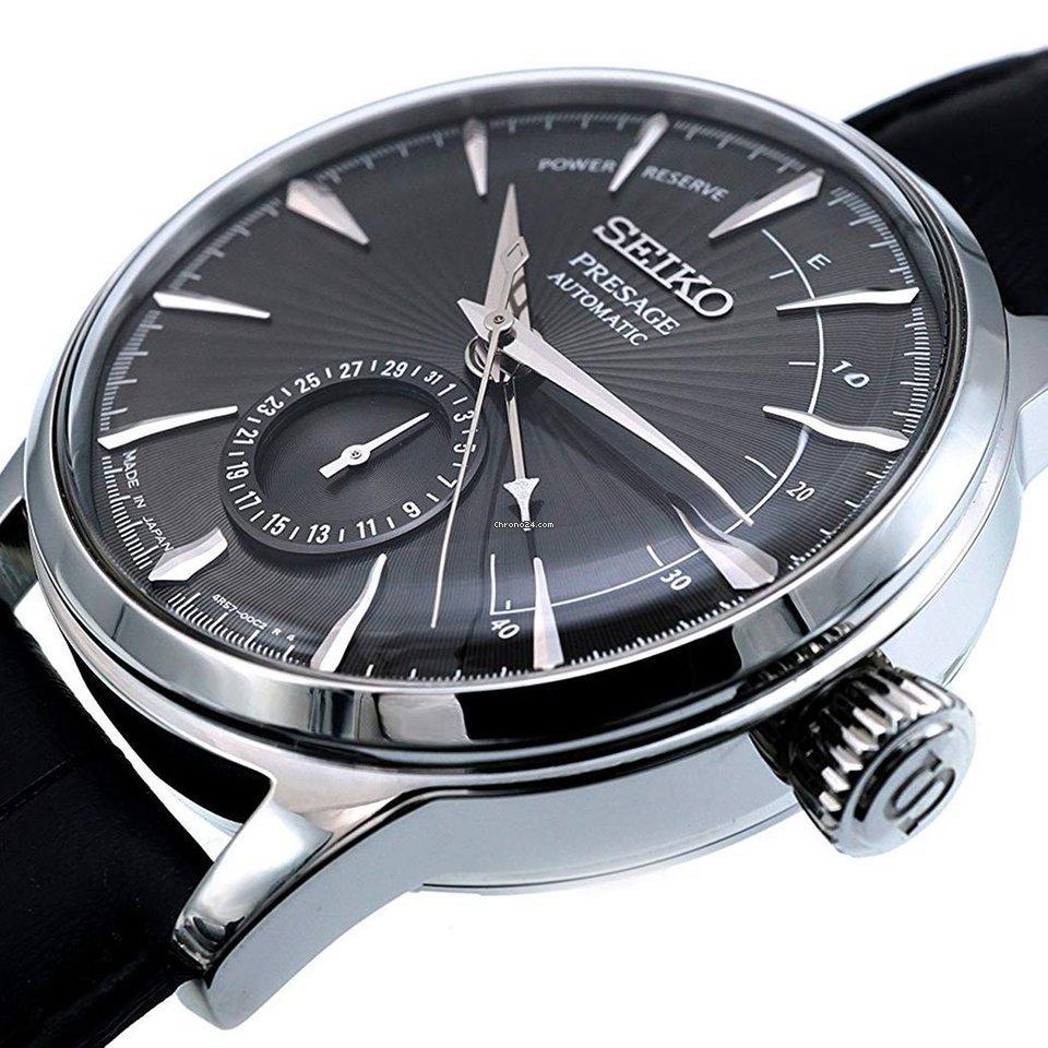 Seiko SSA345J Presage Automatic Watch Black Dial Power Indicator – H & S  Jewellers