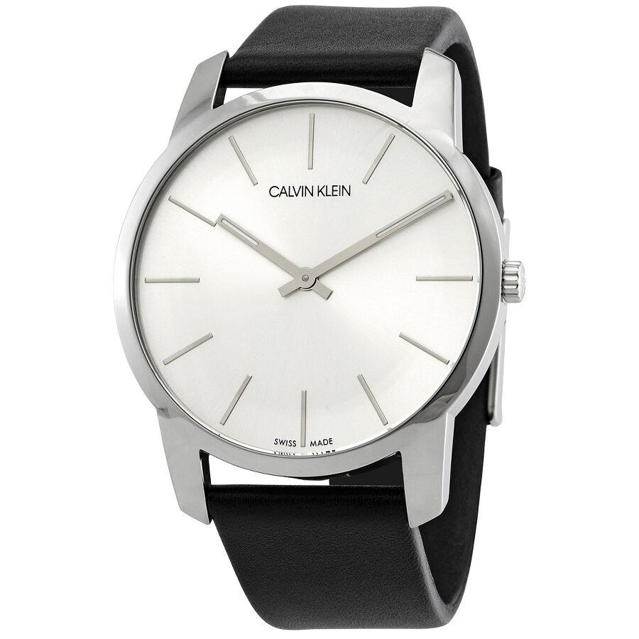 Calvin Klein Color Silver Dial Men's Blue Leather Watch K5E51XV6 K5E51XV6 -  Watches, Calvin Klein - Jomashop
