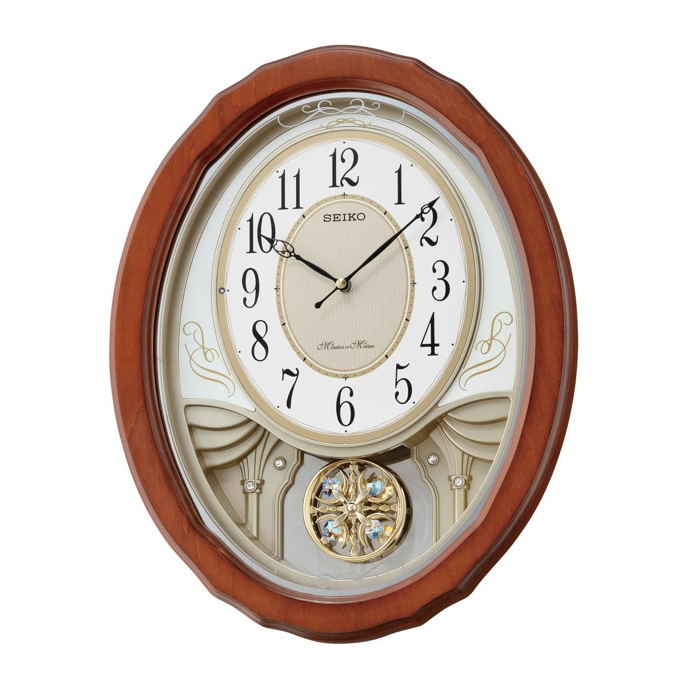 Đồng hồ treo tường bằng gỗ SEIKO QXM351B