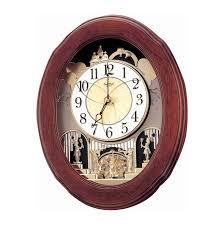 Đồng hồ treo tường bằng gỗ RHYTHM 4MH780WD06