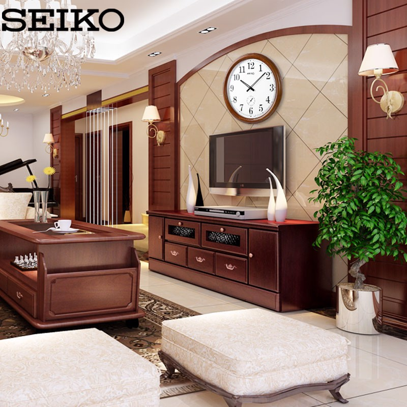 Đồng hồ treo tường bằng gỗ SEIKO QXA155B