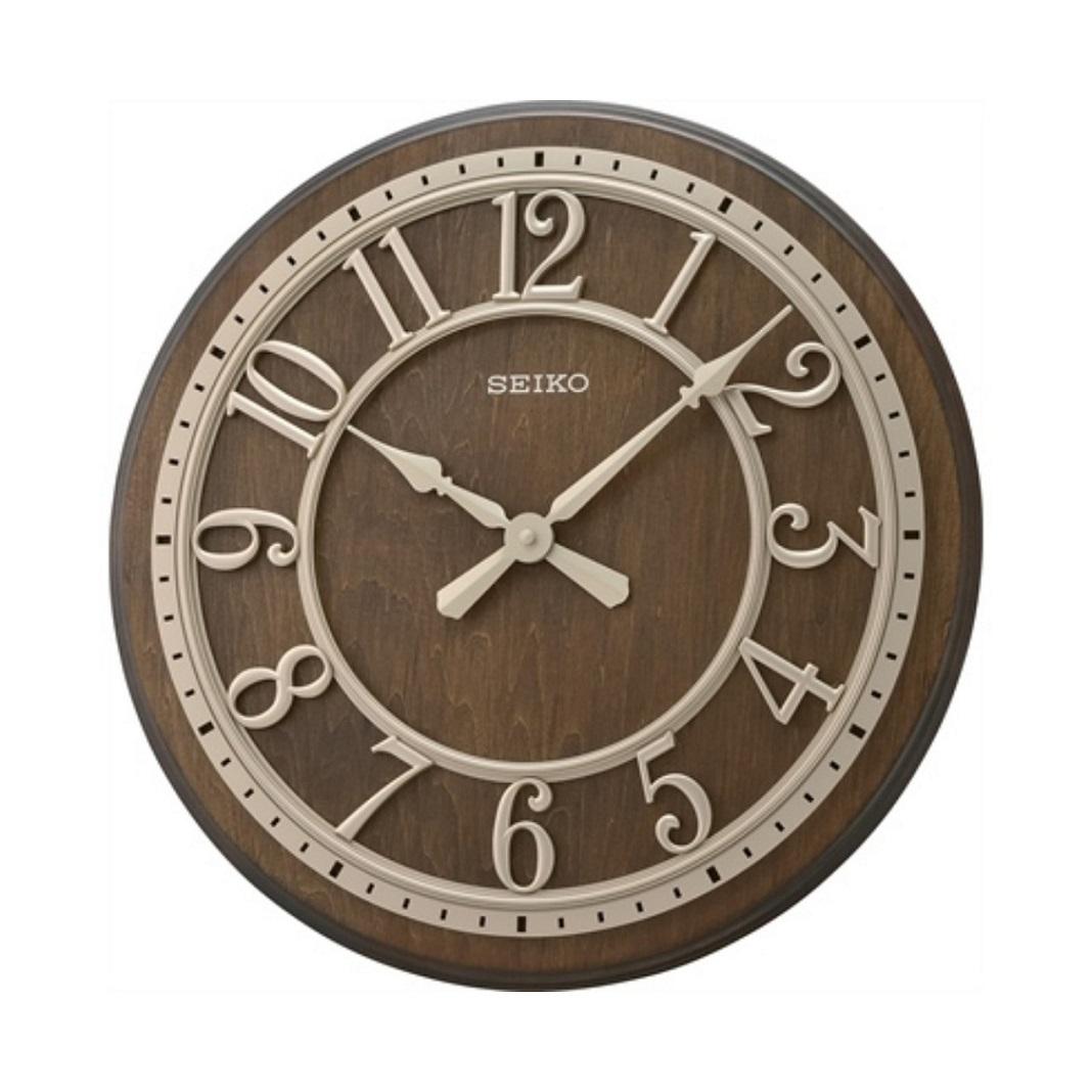 Đồng hồ treo tường bằng gỗ SEIKO QXA742B
