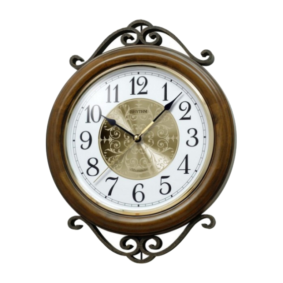 Đồng hồ treo tường bằng gỗ RHYTHM CMH754NR06