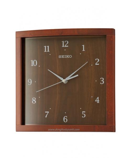 Đồng hồ treo tường bằng gỗ SEIKO QXA675Z