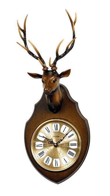 Đồng hồ treo tường bằng gỗ RHYTHM CMH750NR06