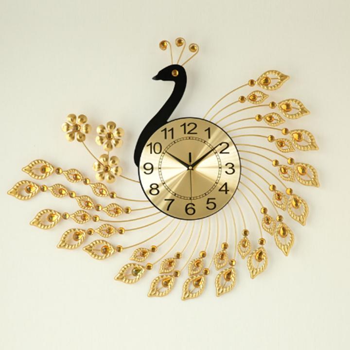 Đồng hồ treo tường hình con công quý tộc NH9337