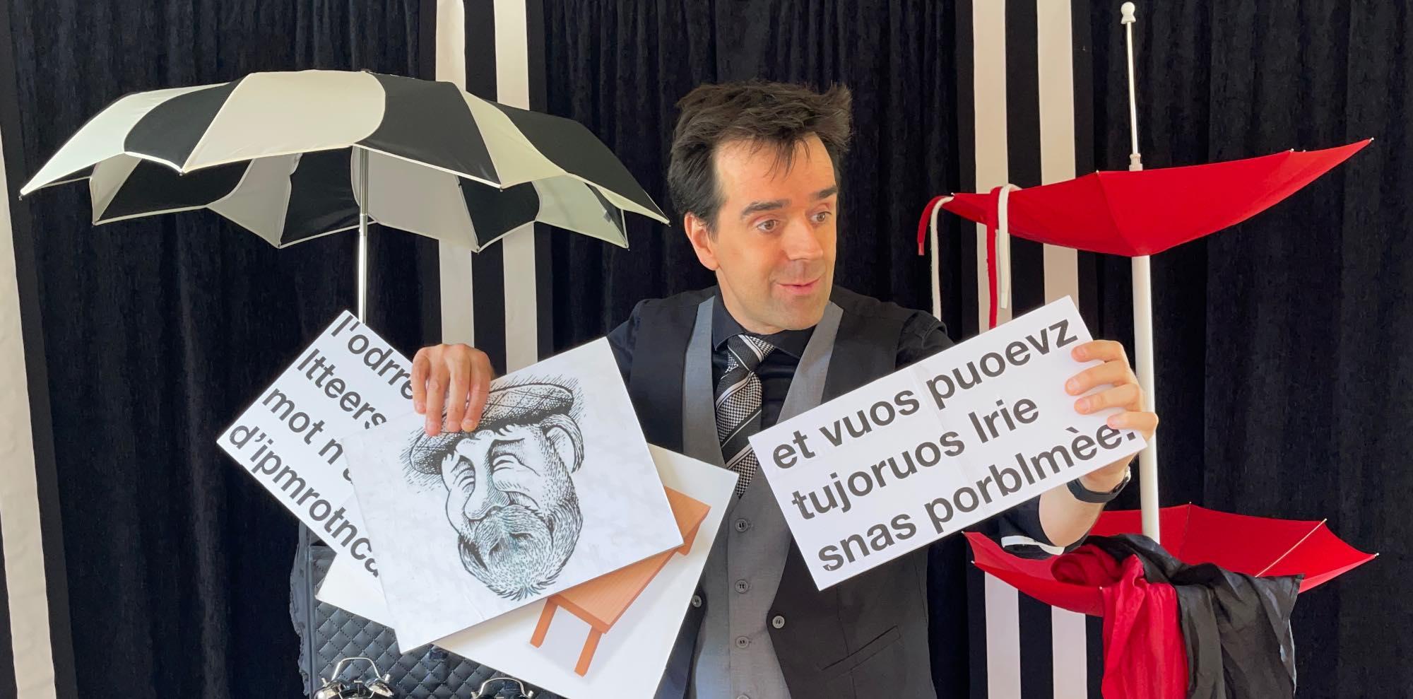 spectacle de magie et illusions d'optiques pour adultes, tout public à Lille, Arras, Douai, Roubaix, Cambrai, Doullens