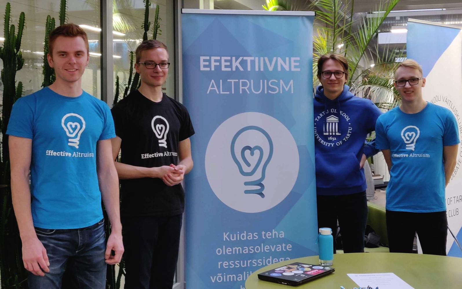 Efektiivse altruismi liikmed levitamas efektiivse altruismi ideid