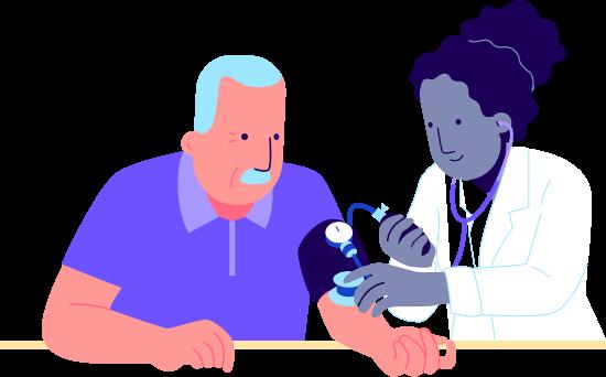 Paciente e médica