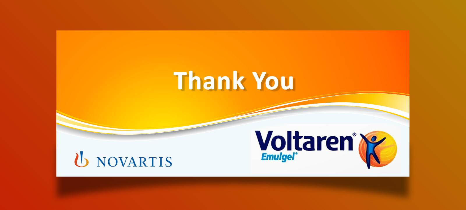 Thank you Novartis, Voltaren Emulgel Graphic Design for Package and Poster