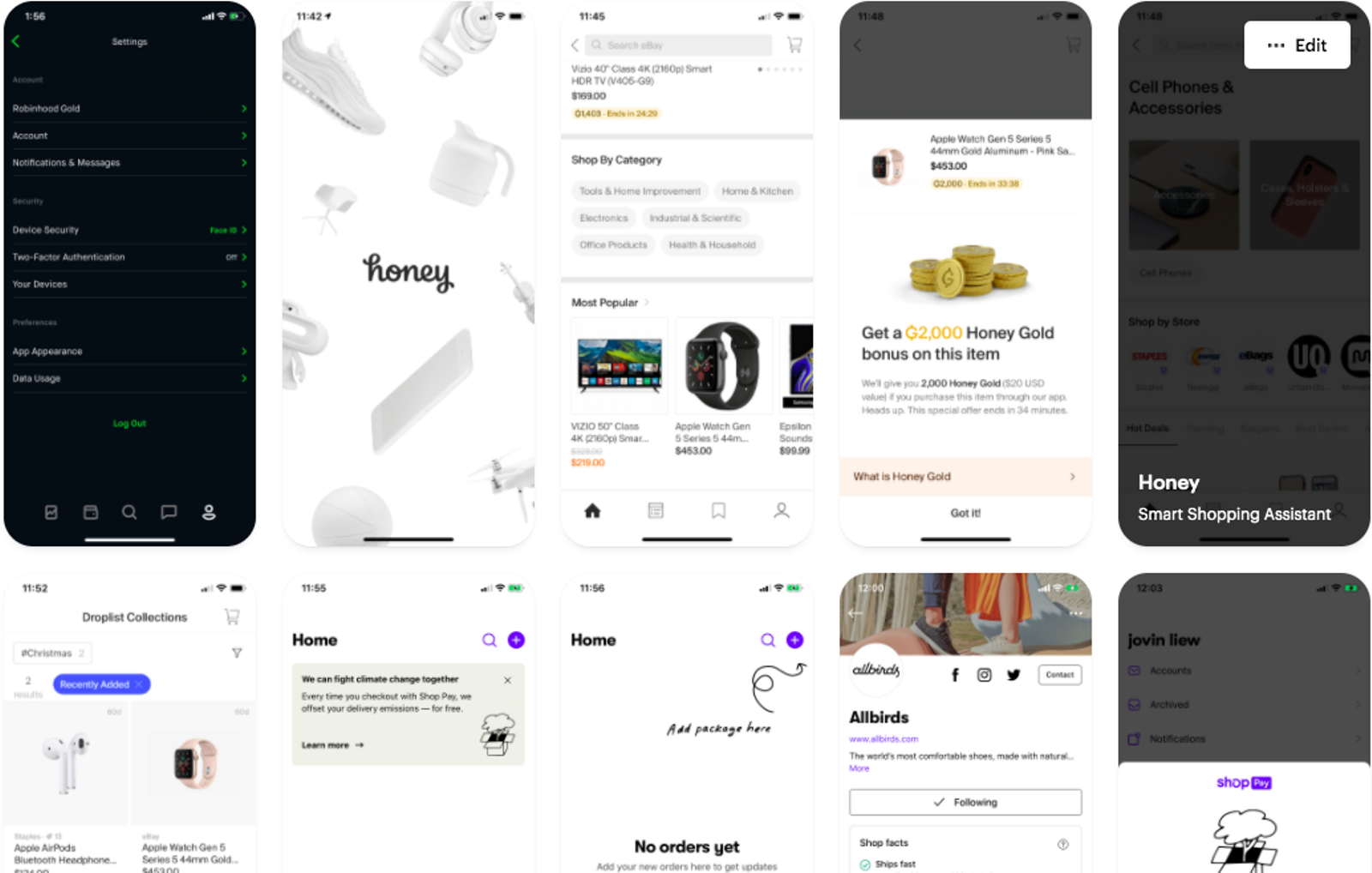 Stylit UI UX for Mobile Shopping App Moodboard using Mobbin
