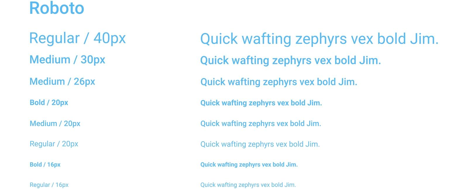 Typography:Roboto
