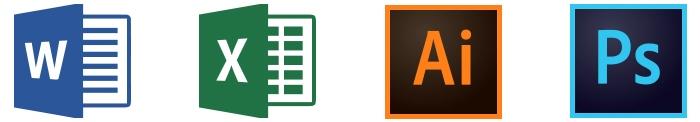 Tools: Microsoft Word, Microsoft Excel, Adobe Illustrator, Adobe Photoshop