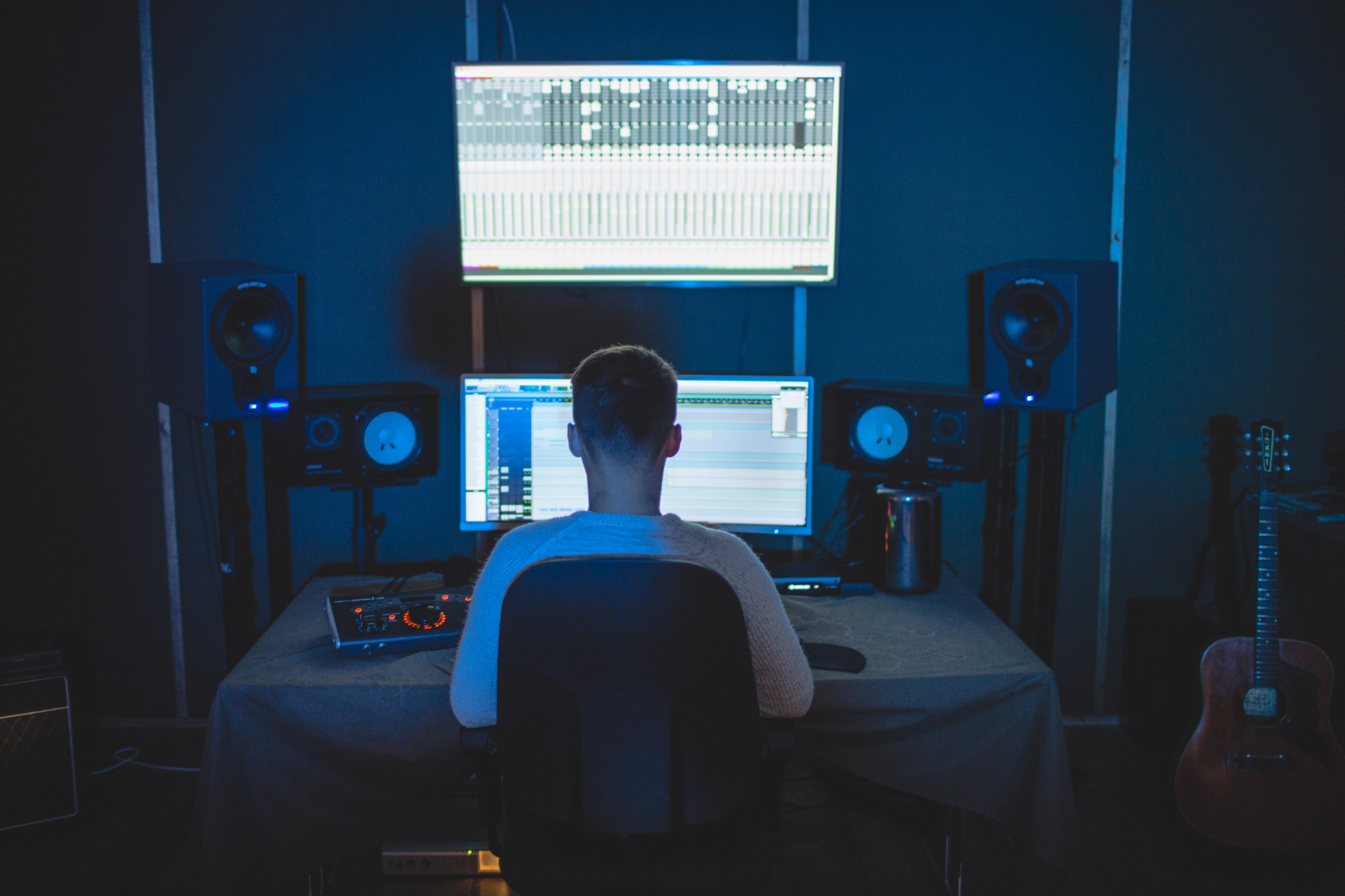 Working from home - Music studio
