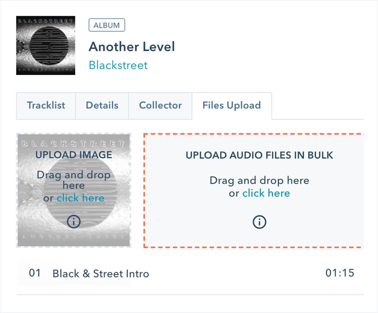 Audio files bulk uploader