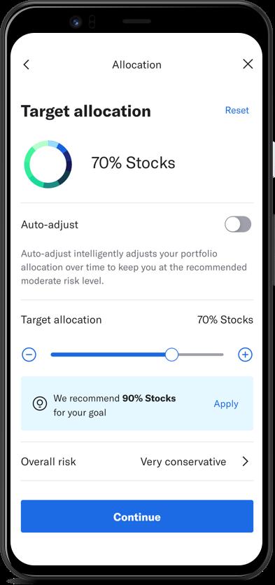 Betterment mobile app screen