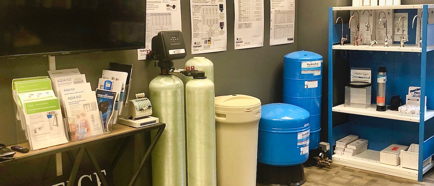 Our water testing storeroom.