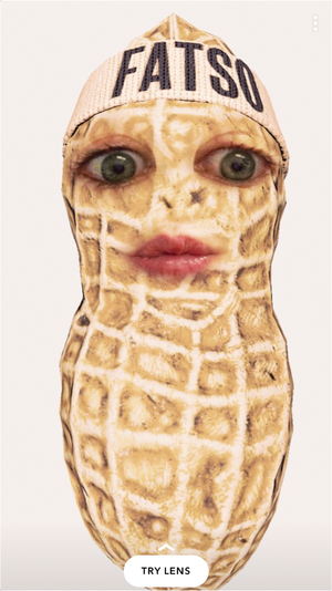 The Fatso Peanut Butter Snapchat lens