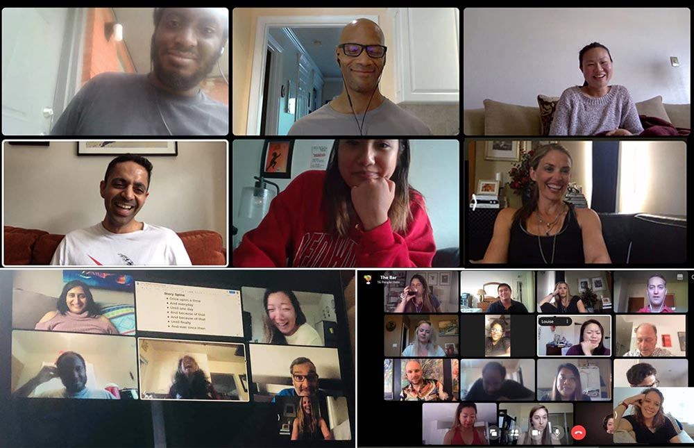 photo from a virtual happy hour as part of our Facebook Community