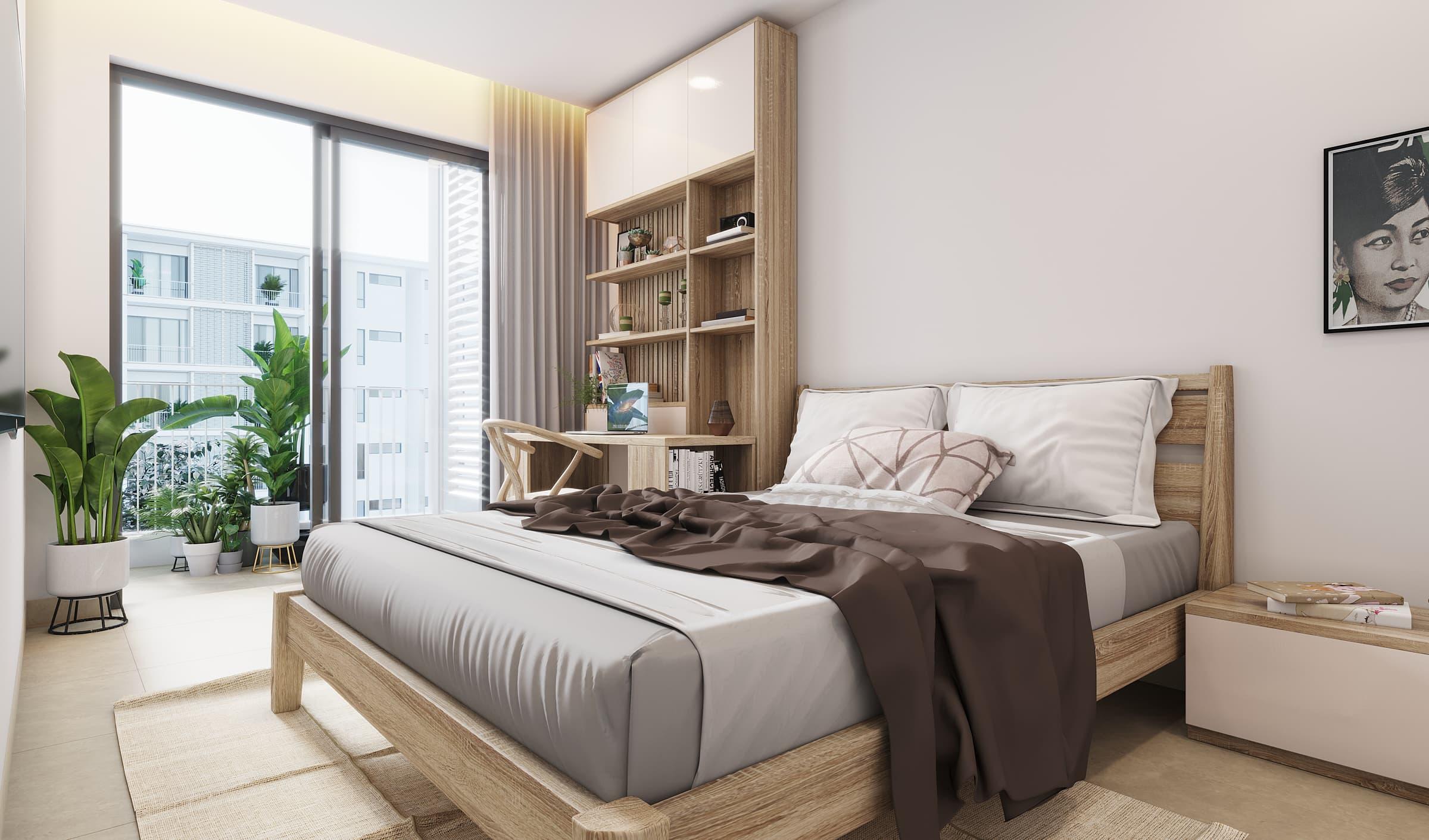 Rose Apple Square Siem Reap Residences Bedroom
