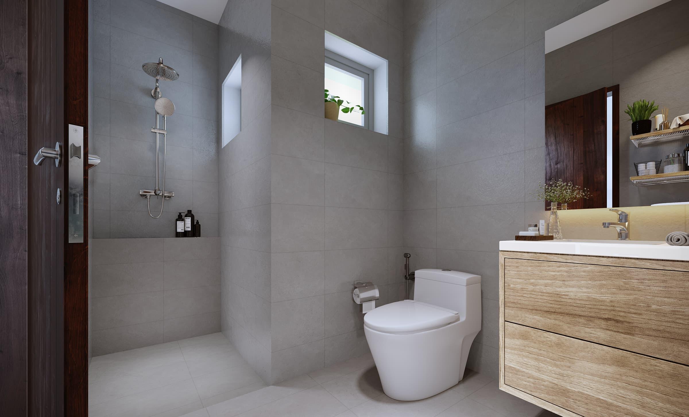 Rose Apple Square Siem Reap Residences 2 Bedroom Bathroom