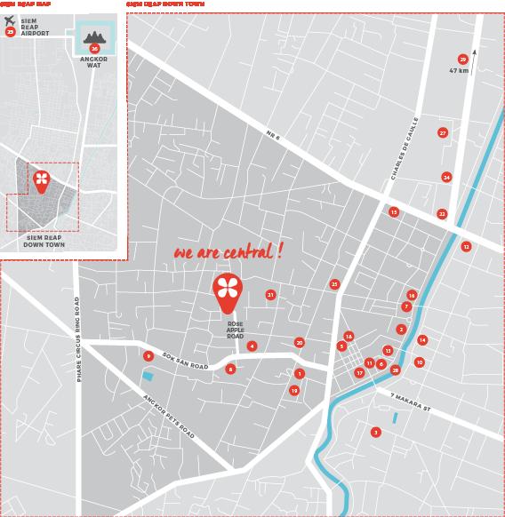 Rose Apple Square Siem Reap Map