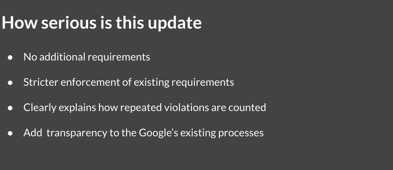 How serious is the Google's July 2021 update