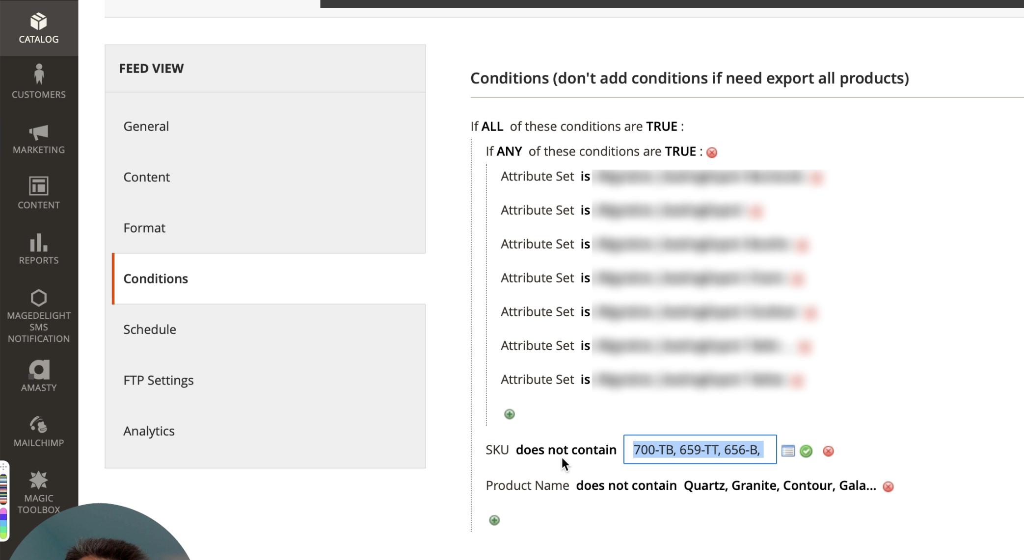 Excluding Magento items from being exported to Google Ads