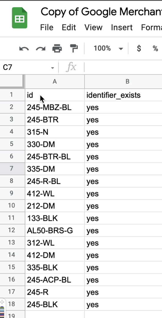Creating supplemental feed on a Google Sheet