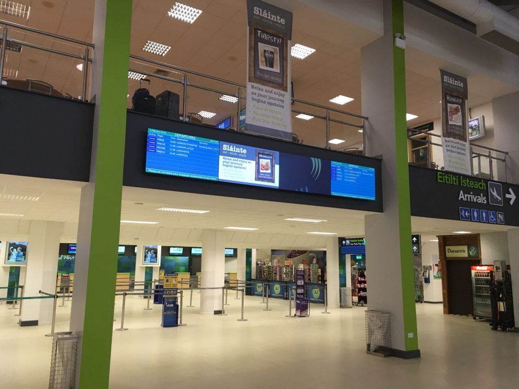 Ireland West Airport Digital Signage