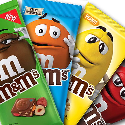 Pack tablettes de m&m's