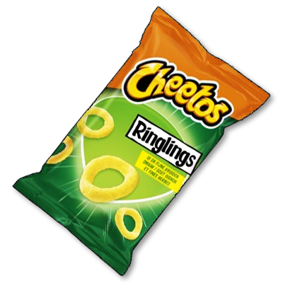 """Cheetos """"Ringlings"""" oignons et fines herbes (100g)"""